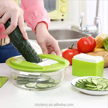 Bon Multi Blades Hand Held Vegetable Chopper Swift Food Processor Manual Food  Chopper