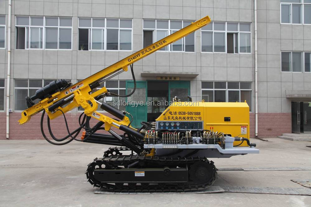 slope project soil nailing track bore hole drilling machine CTQ-G140YF