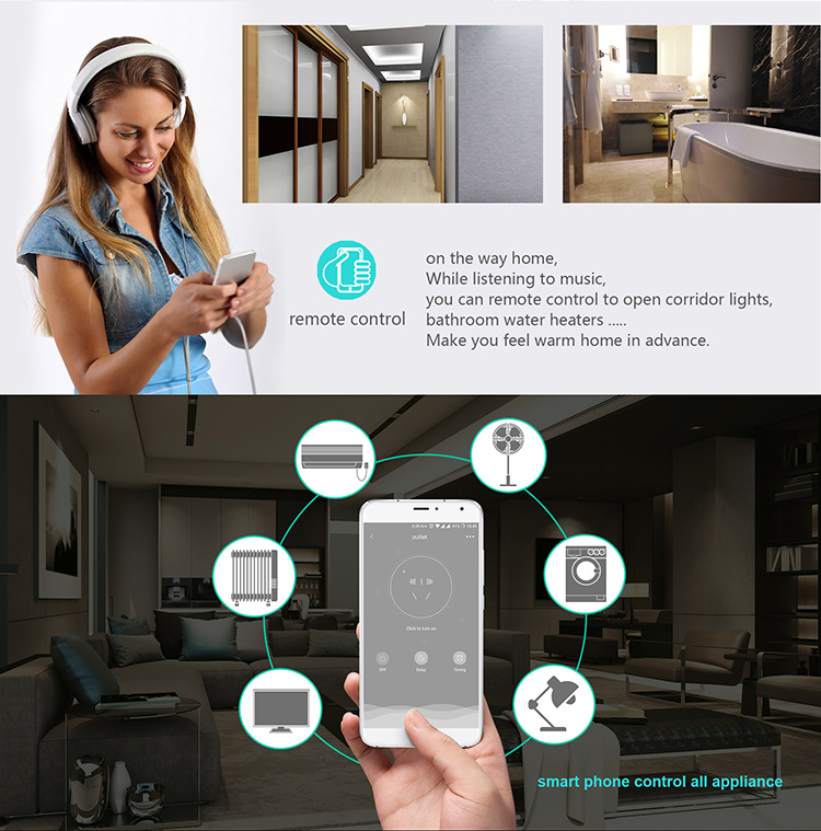 100V-240V mini portable US wifi smart power plug socket work with alexa google home