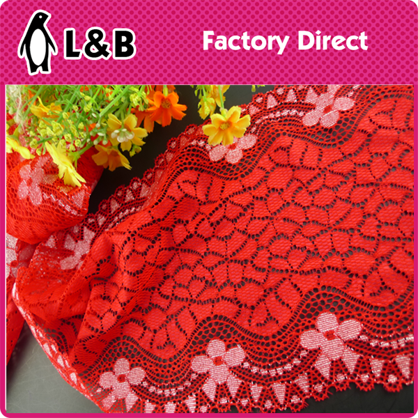 colorful attractive elastic lace trim/lingerie stretch knitting lace trim