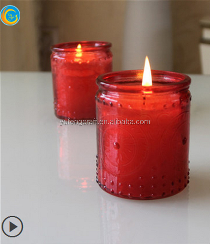 colourful glass candle holder for wedding decoration birthday candle