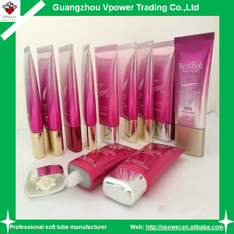 Manufacture body lotion oval plastic cosmetic tubes