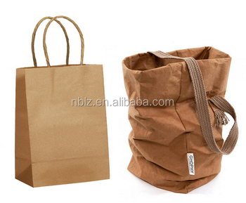 Unique Washable Paper Bag Transparent Water Resistant Waterproof Supplier