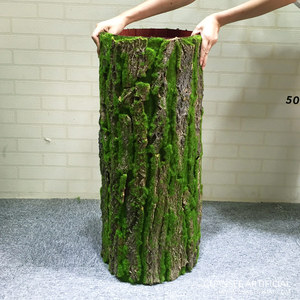 High simulation artificial tree bark with moss for sale