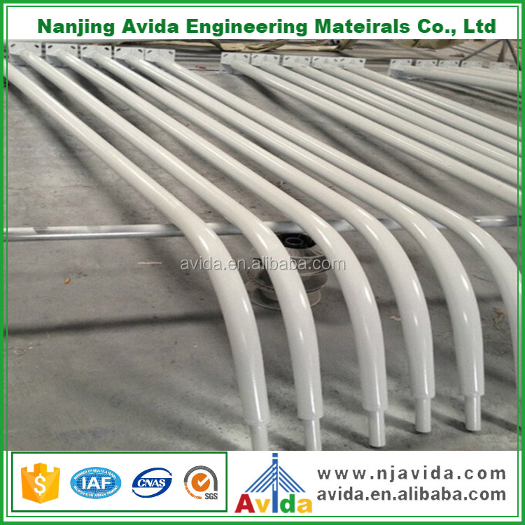 bending shape design street light poles