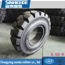 New design fashion low price solid forklift tyre 6.00-9