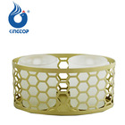 Honey Comb Double Metal Votive Candle Holder
