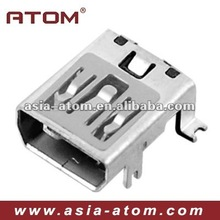 Mini USB connector 10pin female SMT type