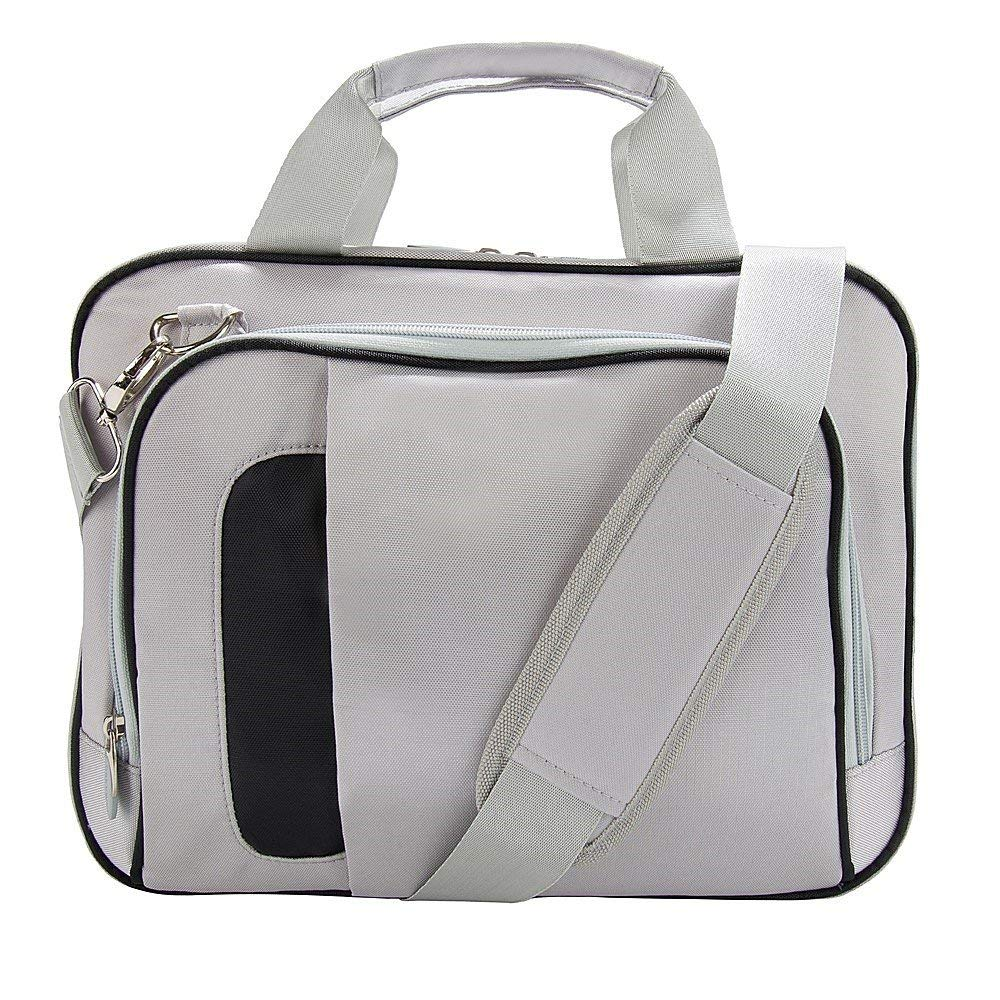 aed627edc16ccc VanGoddy Pinn 10 Nylon Casual Messenger Bag Satchel (Silver/Black) for  Samsung Galaxy