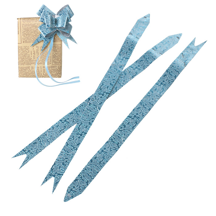 PVC Gift Box Garland Decorations Lightblue Pull Bow