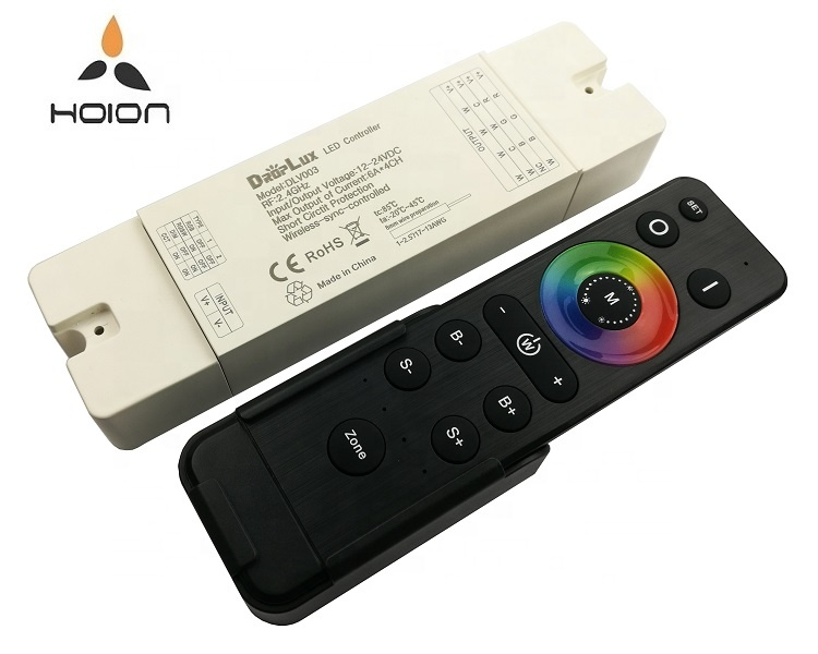 2.4G Smart verlichting systeem universele draadloze sync 4 zones 4 in 1 controller rgb led controller
