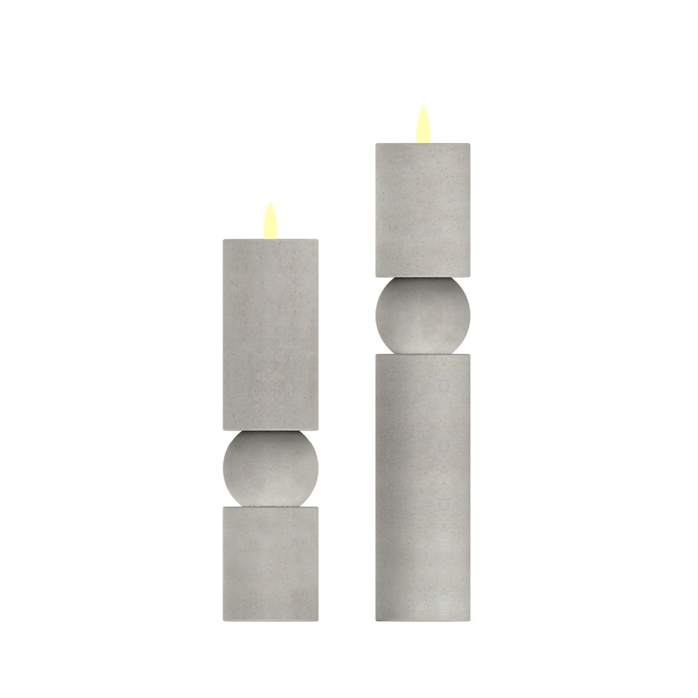 New design tea light holders candle holder with cement base