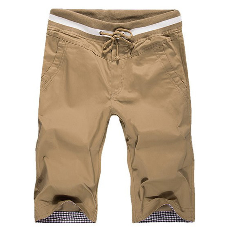 New 2015 Summer Men Shorts Plaid Cotton Shorts Men Slim Fit Casual Sport Shorts Beach Shorts Bermuda Khaki, beige,black, blue