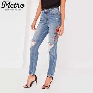a3318bcfd22 China Flower Jeans Women, China Flower Jeans Women Manufacturers and  Suppliers on Alibaba.com