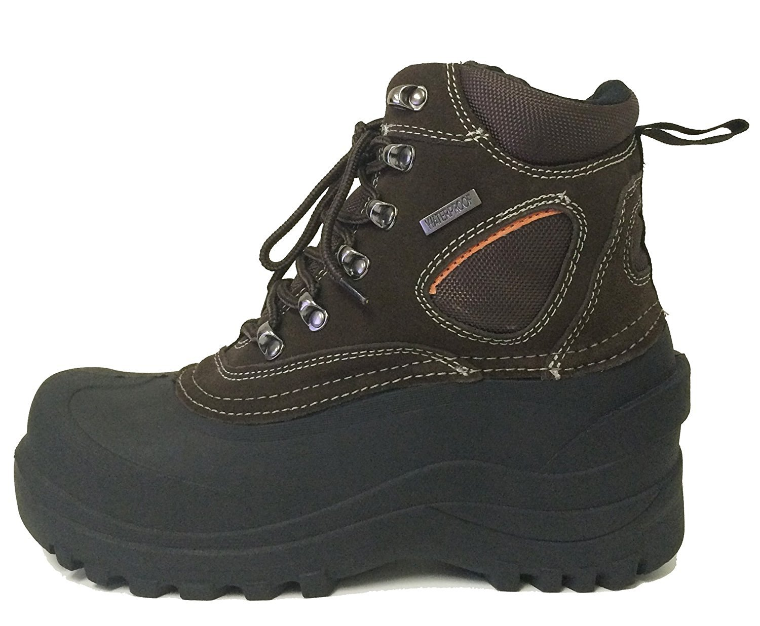 f48450447 Get Quotations · VC607S Men's Winter Boots Snow Leather Cold Weather Thermolite  Waterproof Hiking Insulated Work Shoes Brown