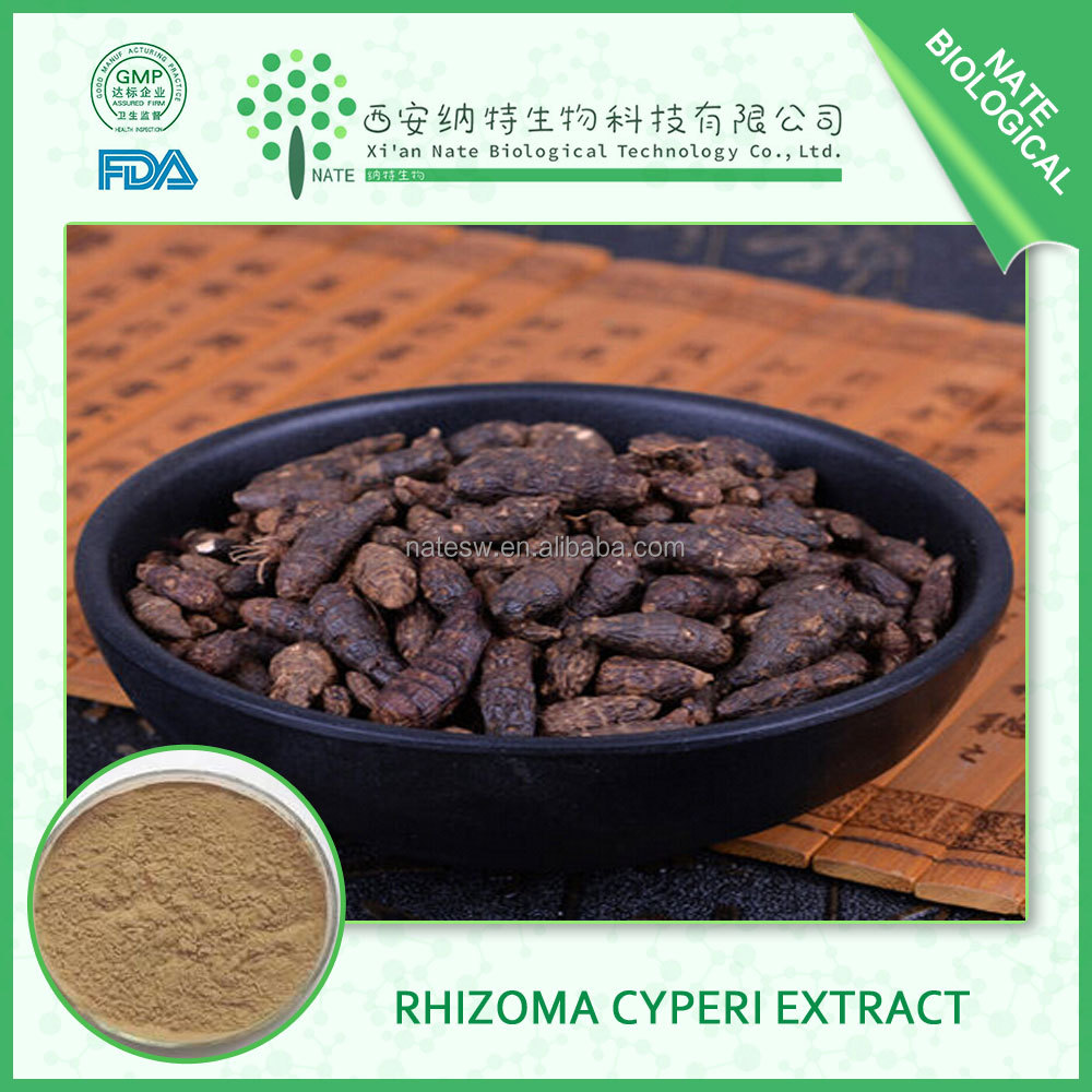 Regulating menstruation product of rhizoma cyperi extract with rhizoma cyperi 10:1