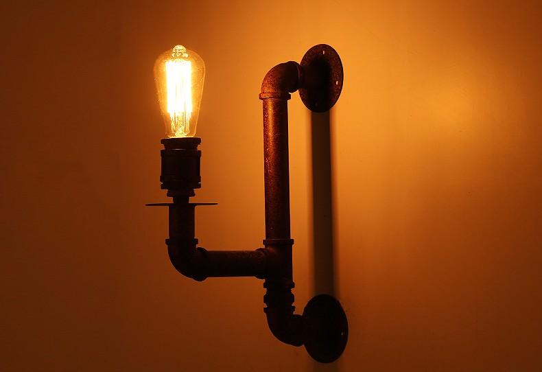 Loft Design Vintage Decor Metal Pipe Light For Coffee Shop