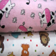Fashion cute cartoon 100% cotton flannel fabric for baby bedding set