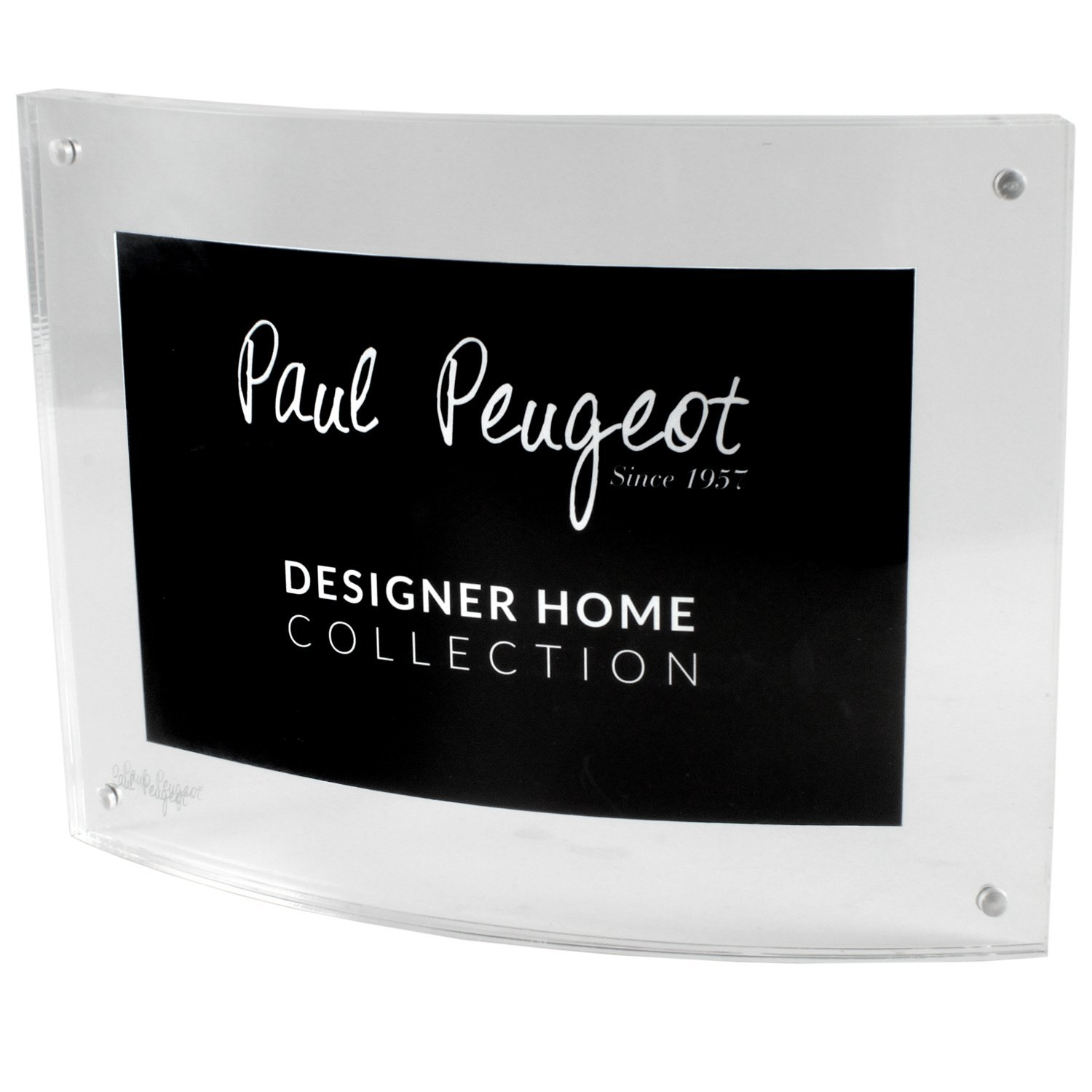 Paul Peugeot Clear Acrylic Picture Frames Magnetic Photo Frame Double Sided Picture frame (6x8 Curved)