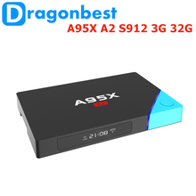 "2017 New promotion A95X A2 S912 3G 32G 7.0"" android smart tv box for sale Android 6.0 media player box"