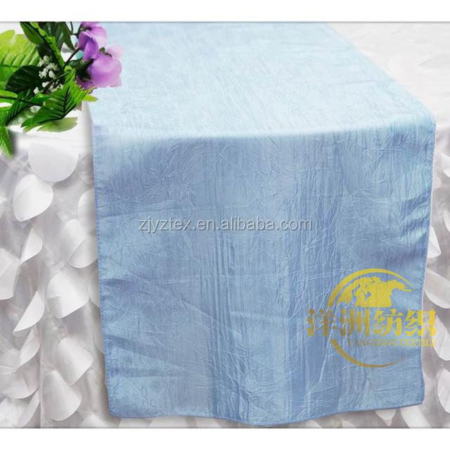 Wholesale Light Blue Crinkle Taffeta Table Runners For Sale