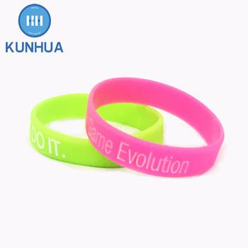 Mens Sports Bracelets Eco Souvenirs Custom Bangle Rubber Wristbands For Events Personalized No Minimum