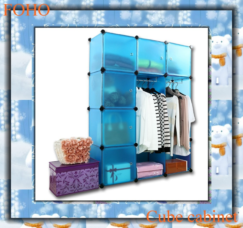 colorful bedroom wardrobe closet shelving systems FH-AL0039-6