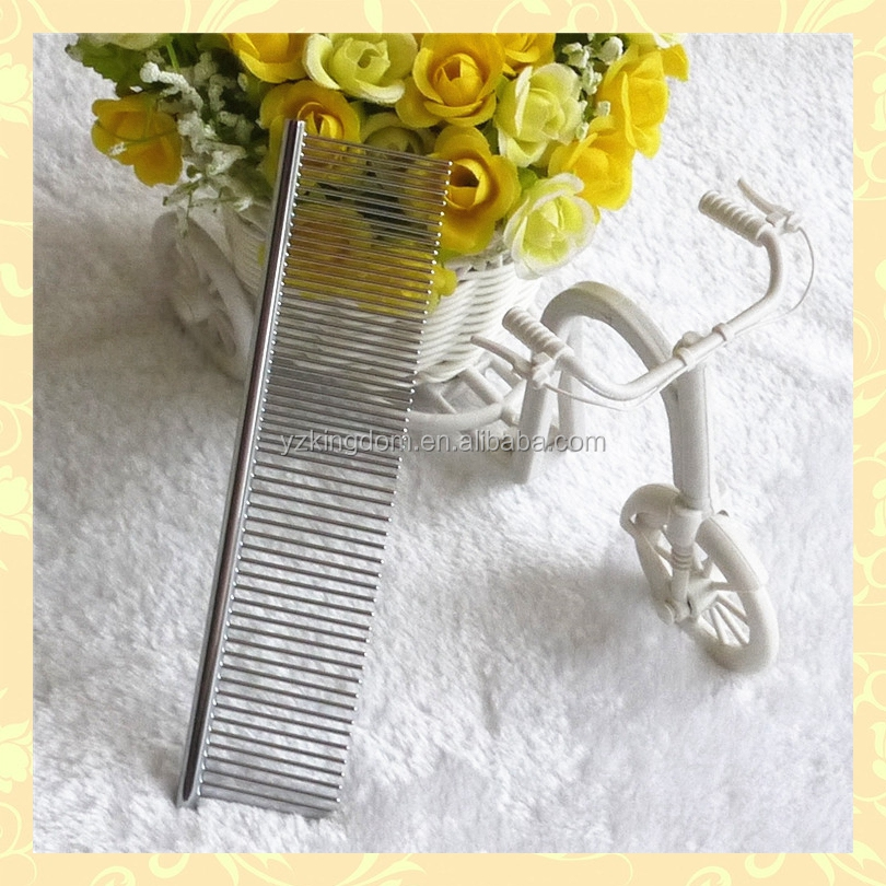 Dog pet metal pocket comb long hair metal comb for grooming
