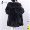 Excellent China Supplier Hot Sale Natural Fashion Women Winter Saga Fox Fur outwear Coat