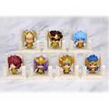 7pcs lot Anime Saint Seiya Egg Box Q Version The Gold Zodiac PVC Action Figures Model