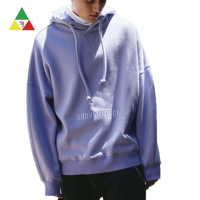 Custom mens pullover logo streetwear hoodie embroidery