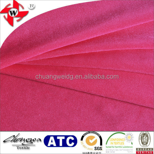 polyamide lycra fabric/shiny stretch waterproof fabric/knitted jersey fabric