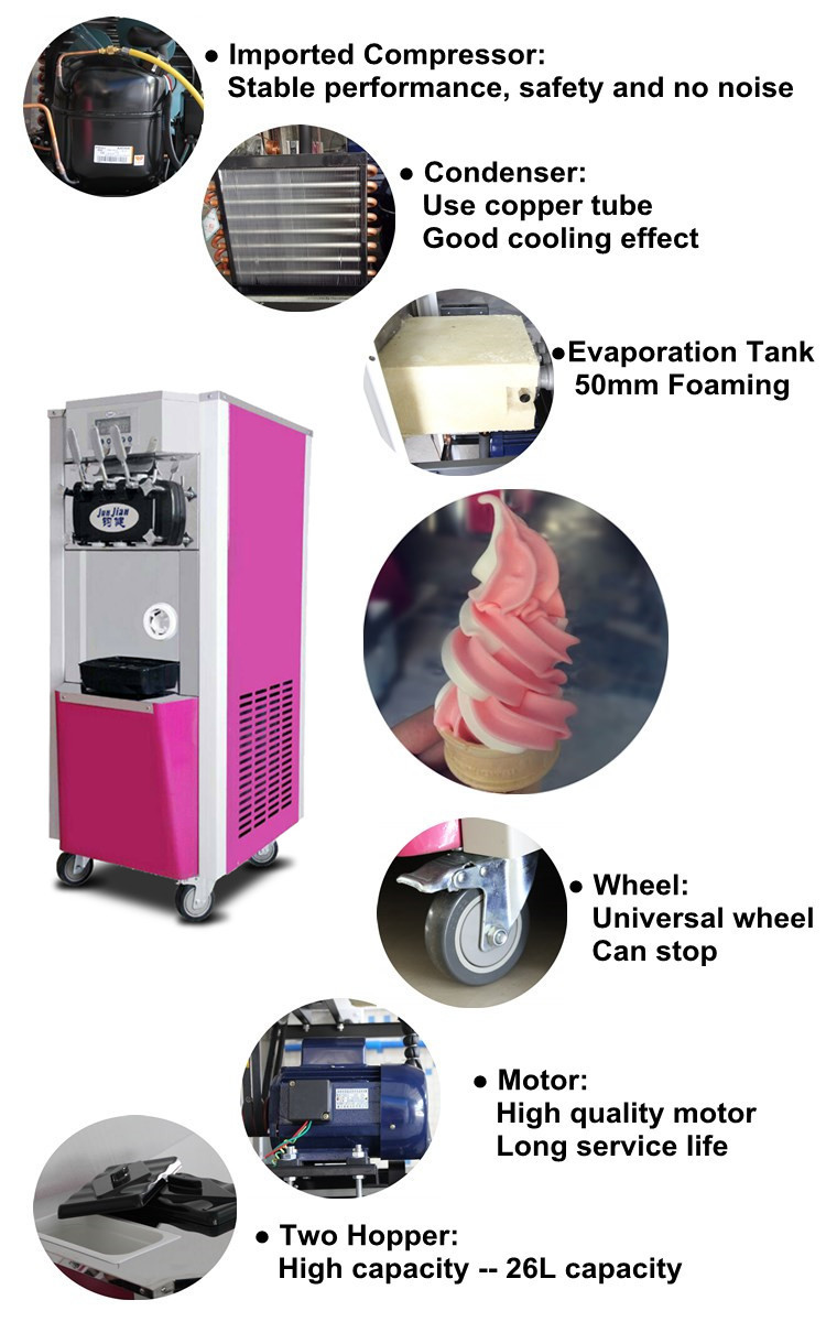 Chinese fashion soft serve ice cream machine with CE Approved