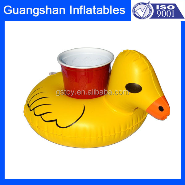 custom duck inflatable can holder pool float toy
