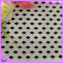 3 mm 24 rows white pearl iridescent rhinestone crystal mesh sheet trimming