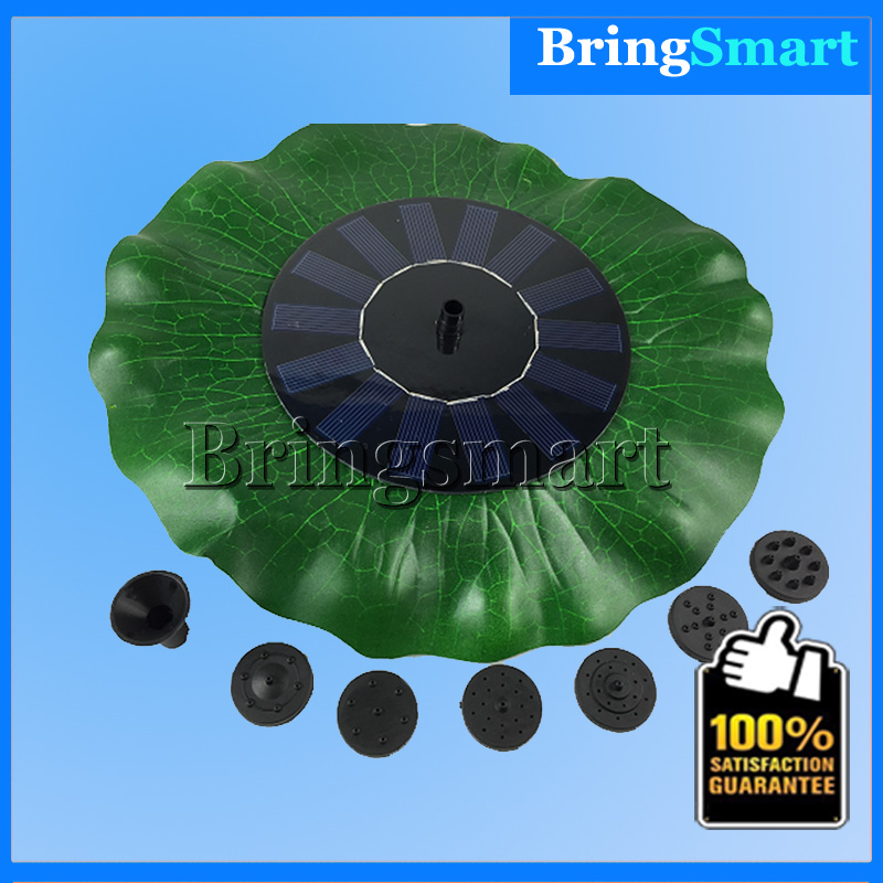Free shipping JT-160F1HY38 200L/H Mini DC Pump Brushless Solar Water Pump Landscape Fountain Floating Pump with Lotus Leaf