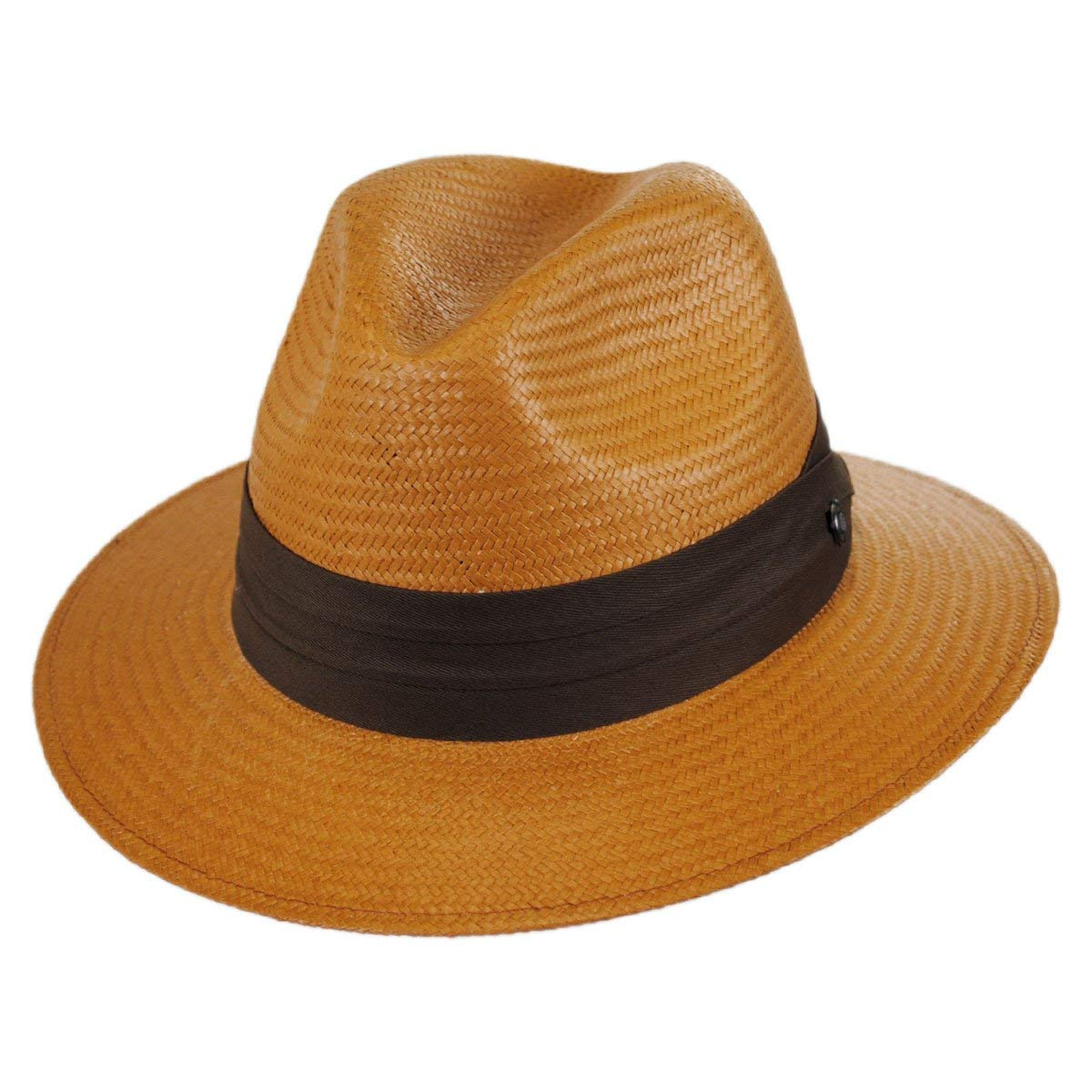 0e081b5f444 Get Quotations · Jaxon Augusta Toyo Straw Safari Fedora Hat