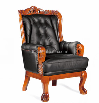 Luxury High End Executive Real Leather King Office Chair Furniture Foh A09