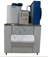 LIER 1000kg Widely Used Commercial Range Flake Ice Machine For Fish/ Ice Flake Machine