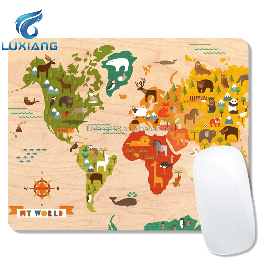 Luxiang factory supply printing game rubber mouse mat