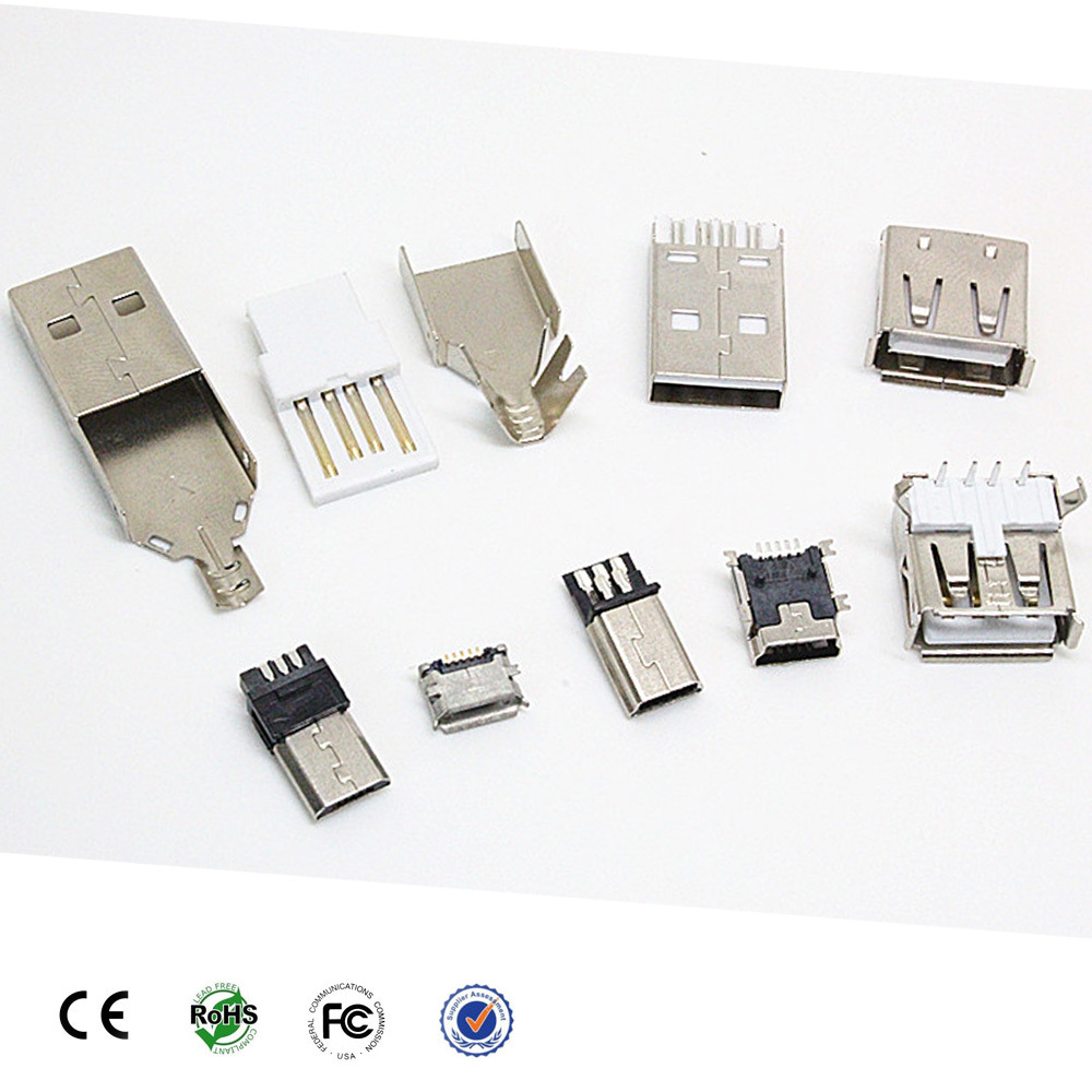 High quality micro usb male b 5 pin connector for Samsung