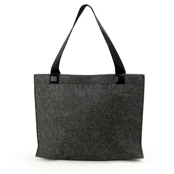 New Arrival Colorful Felt Tote Handbag Beach Bag with Leather Handle Shopping Women Bag Tote Felt bag