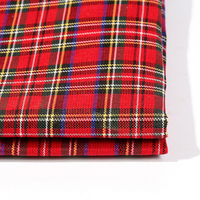 Hot sale 100% polyester plaid woven fabric for linen cloth with best quality and price