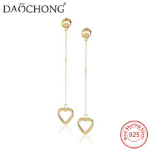 Manufacturer Good Selling fashion design Gift For girls Women's silver drop earring