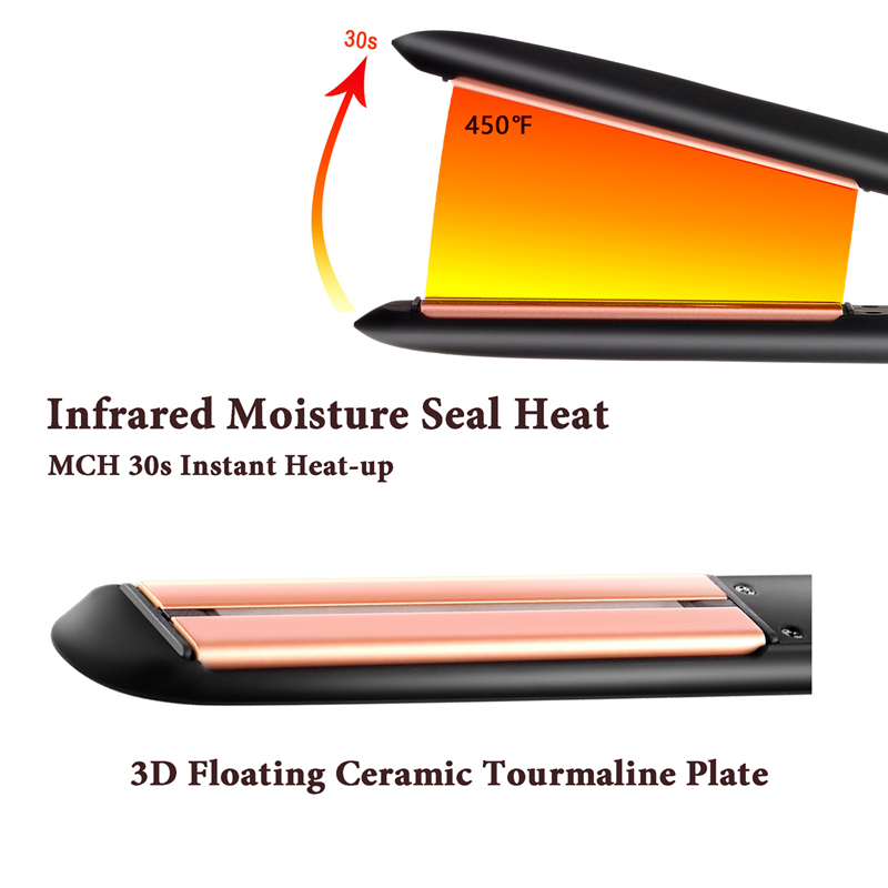 new technology keratin hair treatment nano ceramic coating flat iron professional ionic infrared hair straightener