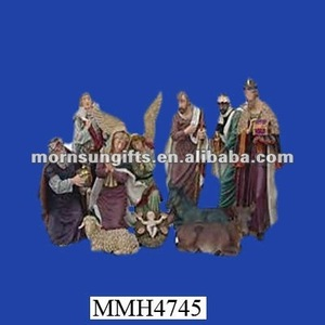 Unique Personalized Resin Christmas Antique Nativity Sets