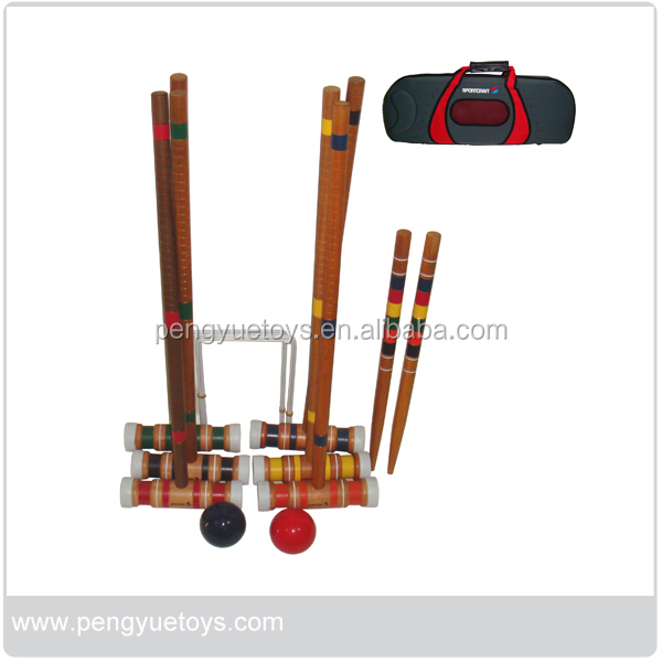 Outdoor Competitive Games Wooden Croquet Sports Game Set
