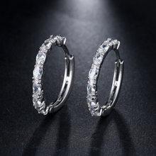 LXOEN модные круглые зеленые большие серьги-кольца с фианитами ААА, серьги-обручи с кристаллами для женщин, ювелирные изделия, подарок Brinco(Китай)