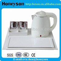 hotel electric kettle with tea tray for stars hotel