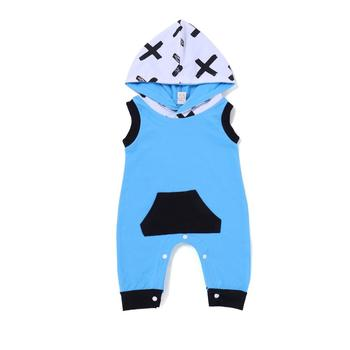 53d4f148693f Newborn Baby Boys Romper Sleeveless Hooded Jumpsuit Playsuit Clothes ...